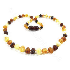 colour beads necklace images Raw baroque mix colour beads amber teething necklace jpg