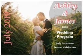 make your own wedding program theme wedding programs outside the box wedding