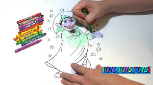 sesame street coloring book the count crayons kids fun and
