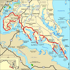 maryland byways map religious freedom byway map america s byways