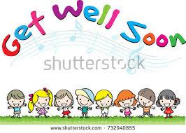 kids get well soon get well soon stock vector 732940855