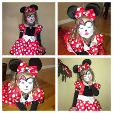 minnie mouse costume and face paint kids crafts clothing etc