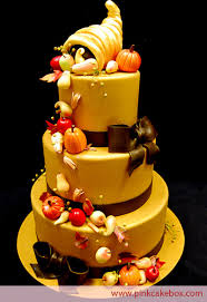 thanksgiving cornucopia cake a wedding cake