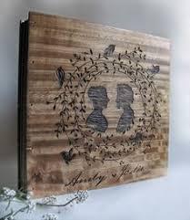 engravable photo album wedding photo album with custom engraving beautiful wood