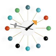 Wall Clock Nelson Wall Clock Multicolor Ball Moma Design Store