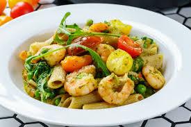pasta recepies shrimp pasta recipe with pesto and cherry tomatoes easy food