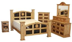 rustic bedroom sets von furniture mansion rustic bedroom set with cowhide and stars
