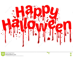 happy halloween sign blood stock vector image 76154752