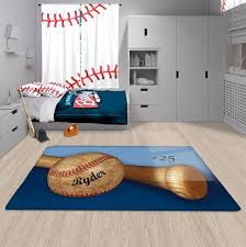 Baseball Area Rug Personalized Baseball Area Rug Custom Fuzzy Rug 2cooldesigns