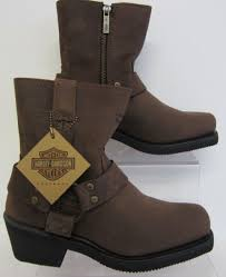 s zip ankle boots uk d84423 harley davidson harness zip brown biker ankle boots