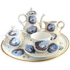 roses tea set porcelain tea set birds roses carlsbad austria c