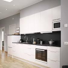 black walls white kitchen cabinets decordots modern white kitchen with black wall