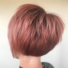 chin cut hairbob with cut in ends rose gold or dusty pink hair bob haircut pixie cut textured hair