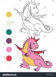 running cute dinosaur coloring book black stock vector 378128743