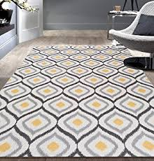 Gray And Yellow Rugs Yellow Gray Area Rug Gray Yellow Morrocan Trellis Area Rugs
