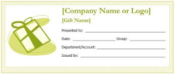 word gift card template custom gift certificate templates for