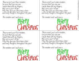 kid made reindeer card printable poem handprint