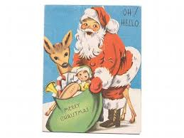 vintage christmas card 1940s sandycreekcollectables