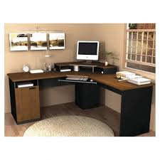 Stylish Computer Desk Corner Computer Desk With Hutch With Shelf And Laminate Flooring