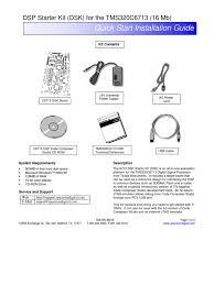 dsk6713 quickstartguide usb digital signal processor