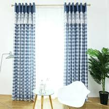 Navy Blue Plaid Curtains And White Plaid Kitchen Curtains Plaid Kitchen Curtains