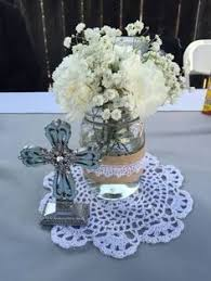 baptism table centerpieces cheap baptism center jar from dollar store ribbon from