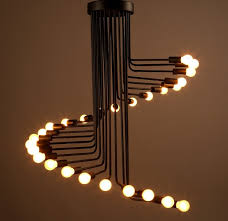 Spiral Pendant Ceiling Light Vintage Spiral Chandelier Stage Lighting Fixture Ceiling L Home