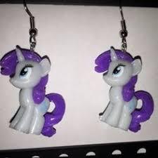 my pony earrings my pony earrings photo finish repurposed toys by erinetc