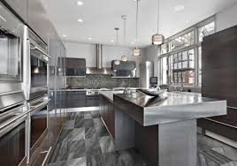 kitchen counter ideas sleek stainless steel countertop ideas guide home remodeling