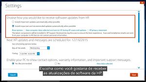 atualização automática de software e drivers hp com o hp support