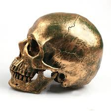 skull decor p bronze human skull resin crafts size 1 1 model modern