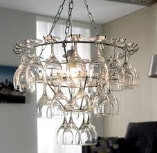 Small Glass Chandeliers Great Wine Glass Chandelier 12 On Small Home Decoration Ideas With