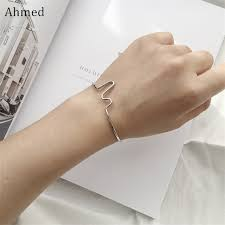 s day bracelet ahmed 2 colors simple fresh personality curved bracelet for
