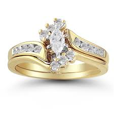 wedding gold sets wedding ideas wedding ideas amidon jewelers marquise 10k yellow
