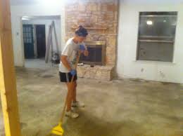 painting a cement floor how to stain concrete floors stained