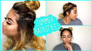 Easy Hairstyles For Medium Hair At Home by 3 Quick U0026 Easy Hairstyles For Short Medium Length Hair Summer