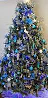 blue christmas tree decorations christmas2017