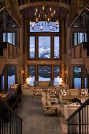 rustic mountain retreat in big sky resembles an old lodge big