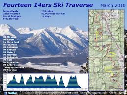 Map Of Colorado 14ers by Fourteen 14ers U2013 Food Rations Elevation Outdoors Magazine