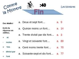 french numbers 1 100 writing activity powerpoint activities