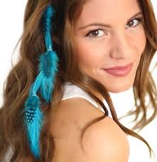 feather hair extensions turquoise feather hair extension clip sweet 16 party favors