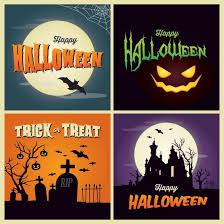 Vector Happy Halloween Poster Template Set By Cgvector On Deviantart