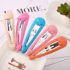 handmade hair simple candy colors solid cloth handmade hair bows hairpins