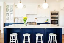Painted Blue Kitchen Cabinets Navy Blue Kitchen Cabinets Home Design Ideas