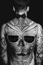 grey skull design on back