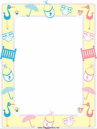 baby shower borders home design ideas