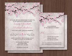 cherry blossom wedding invitations cherry blossom wedding invitation printable diy