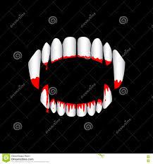 vector vampire bloody teeth on black background stock vector