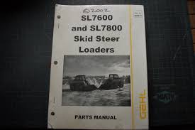 gehl sl7600 sl7800 skid steer loader parts manual book catalog