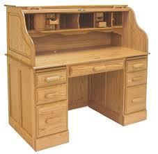 Oak Desk With Hutch 54 W Deluxe Solid Oak Roll Top Desk